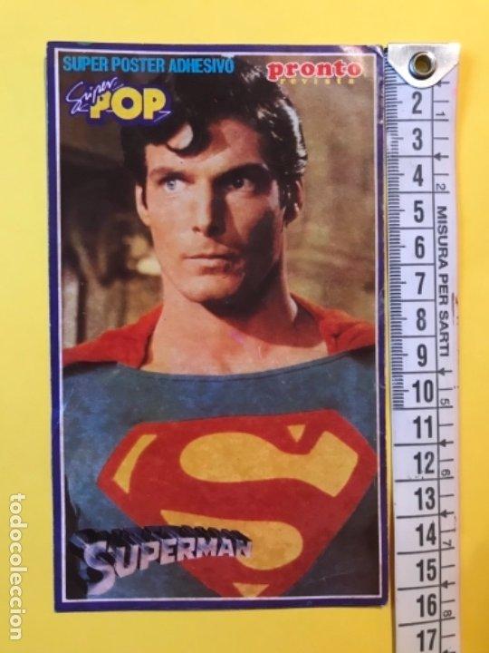 Figuras y Muñecos DC: Pegatina superman revista pronto y super pop Christopher Reeve 15x9,1 cm - Foto 2 - 177537413
