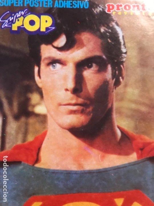 Figuras y Muñecos DC: Pegatina superman revista pronto y super pop Christopher Reeve 15x9,1 cm - Foto 3 - 177537413