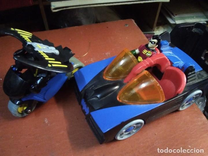 Figuras y Muñecos DC: 4 piezas colección DC Moto y auto batman con 2 figuras batman y ayudante - Foto 2 - 177564360