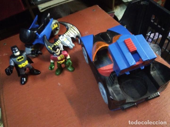 Figuras y Muñecos DC: 4 piezas colección DC Moto y auto batman con 2 figuras batman y ayudante - Foto 3 - 177564360