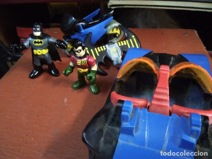 Figuras y Muñecos DC: 4 piezas colección DC Moto y auto batman con 2 figuras batman y ayudante - Foto 4 - 177564360