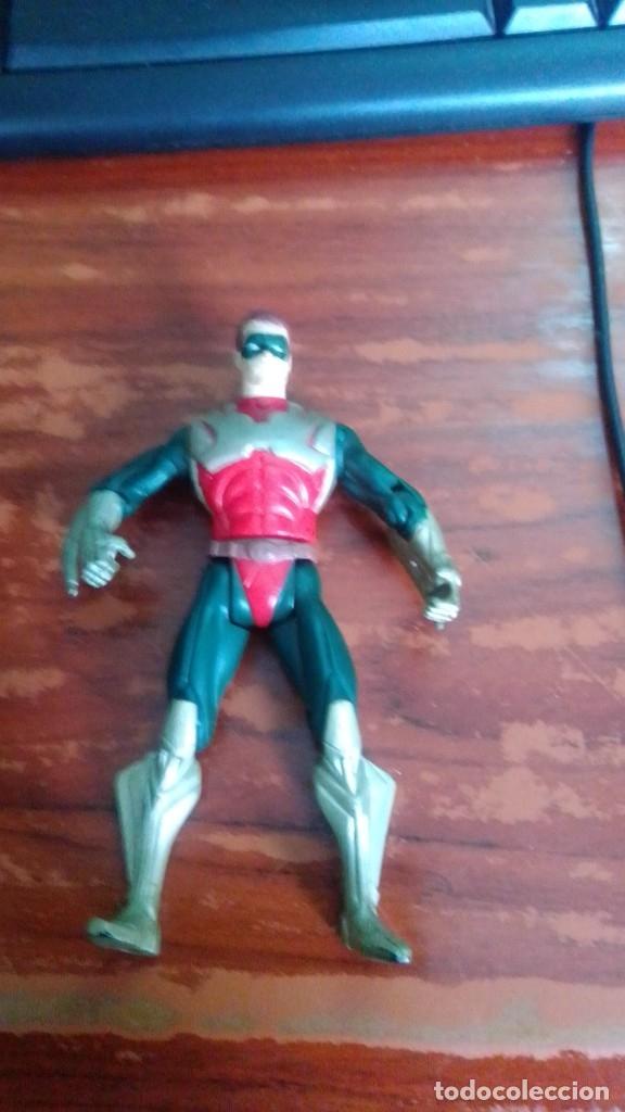 LOTE K. MUÑECO FIGURA DE ACCIÓN ROBIN DE BATMAN DC COMICS AÑO 1995 ARTICULADO 11 CENTIMETROS (Juguetes - Figuras de Acción - DC)