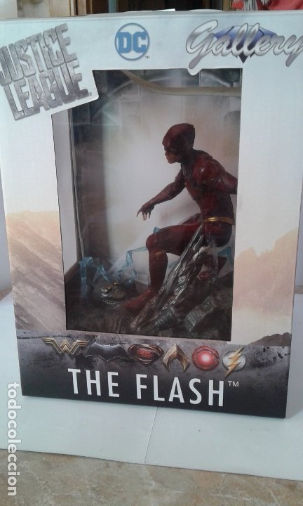 DC COMICS, DC JUSTICE LEAGUE GALLERY THE FLASH, FIGURA 9 INCH/23 CM (DIAMOND SELECT TOYS) (Juguetes - Figuras de Acción - DC)