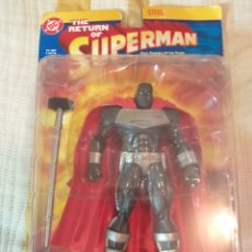 Figuras y Muñecos DC: DC DIRECT FIGURA STEEL, LA MUERTE DE SUPERMAN, SIMILAR MARVEL LEGENDS, DC UNIVERSE CLASSICS. Lote 183393435