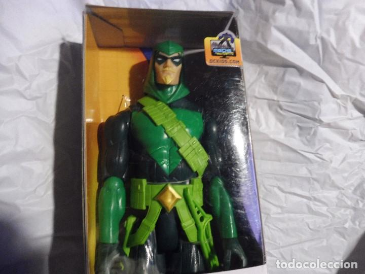 FIGURA GREEN ARROW FLECHA VERDE MECHS VS MUTANTS BATMAN DC COMICS MATTEL 2016 EN CAJA (Juguetes - Figuras de Acción - DC)