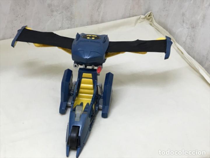 ANTIGUO COCHE BATMAN AZUL BATMOBILE BATMOVIL DC AEROBAT ALAS DESPLEGABLES (Juguetes - Figuras de Acción - DC)