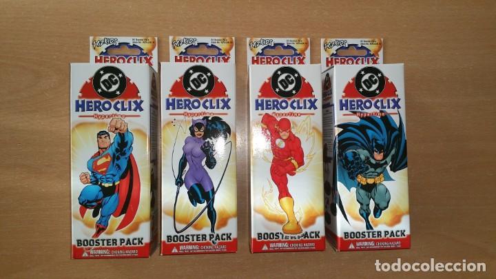 4 CAJAS DC HERO CLIX HYPERTIME PRECINTADAS HEROCLIX (Juguetes - Figuras de Acción - DC)