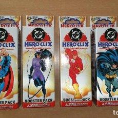 Figuras y Muñecos DC: 4 CAJAS DC HERO CLIX HYPERTIME PRECINTADAS HEROCLIX. Lote 190587170