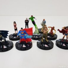 Figuras y Muñecos DC: HEROCLIX / LOTE 9 FIGURAS LA LIGA DE LA JUSTICIA / BATMAN / SUPERMAN (DIFICIL) / AQUAMAN / WONDER WO. Lote 196085240