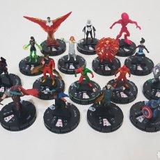 Figuras y Muñecos DC: HEROCLIX / LOTE 18 FIGURAS, MUCHAS RARAS PLATEDAS / LOS VENGADORES. Lote 196190672