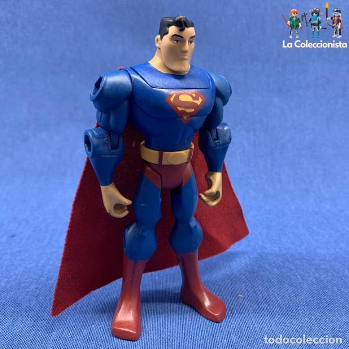 FIGURA SUPERMAN - THE BRAVE & THE BOLD - KRYPTONITE COLLISION BATTLE - 2009 - MATTEL 12.5 CM (Juguetes - Figuras de Acción - DC)