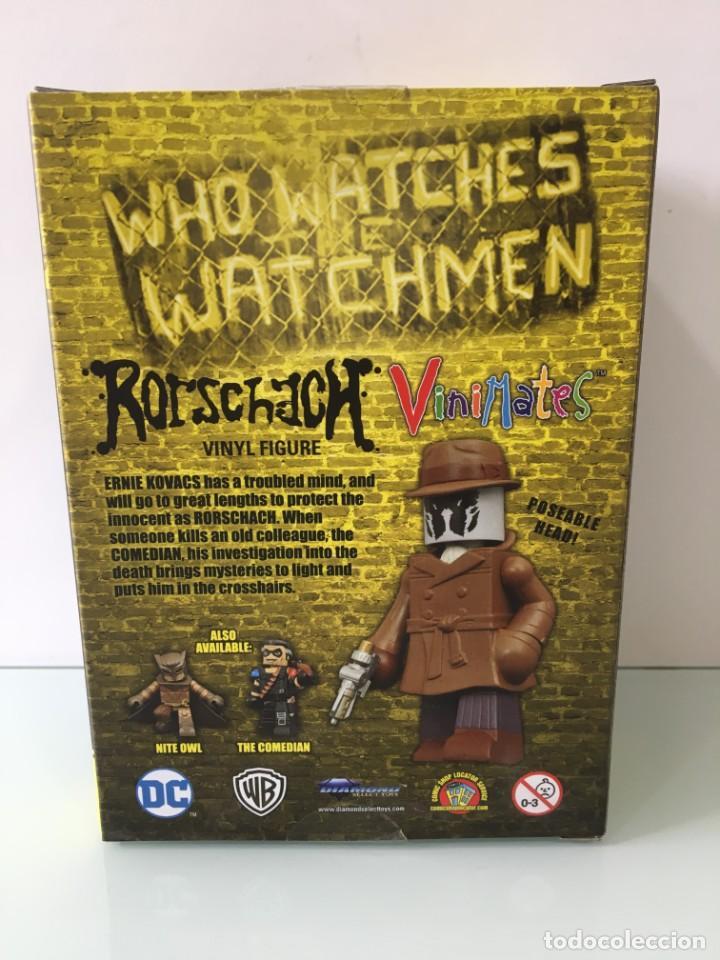 Figuras y Muñecos DC: Figura de vinilo Rorschach Vinimates (12 cm) Watchmen - Foto 7 - 204841245