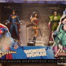Figuras y Muñecos DC: DC COMICS: SUPER HERO COLLECTION - WONDER WOMAN, SUPERMAN Y LEX LUTHOR / NUEVA EN SU CAJA. Lote 206319597