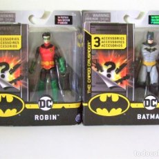 Figuras y Muñecos DC: LOTE FIGURA BATMAN + ROBIN 10 CM THE CAPED CRUSADERS SPINMASTER DC COMICS SPIN MASTER FIGURE 4 INCH. Lote 208563443