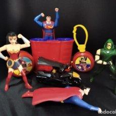 Figuras y Muñecos DC: LIGA DE LA JUSTICIA AMERICA, BATMAN, WONDERWOMAN- LOTE 7 FIGURAS Y ACCESORIOS- DC COMICS BURGER KING. Lote 212049157