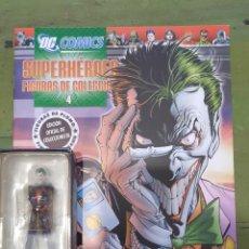 Figuras y Muñecos DC: FASCICULO Nº 4 DE SUPERHEROE DC Y FIGURA EN PLOMO ENCAPSULADA, THE JOKER, ALTAYA, 2008. Lote 217270572