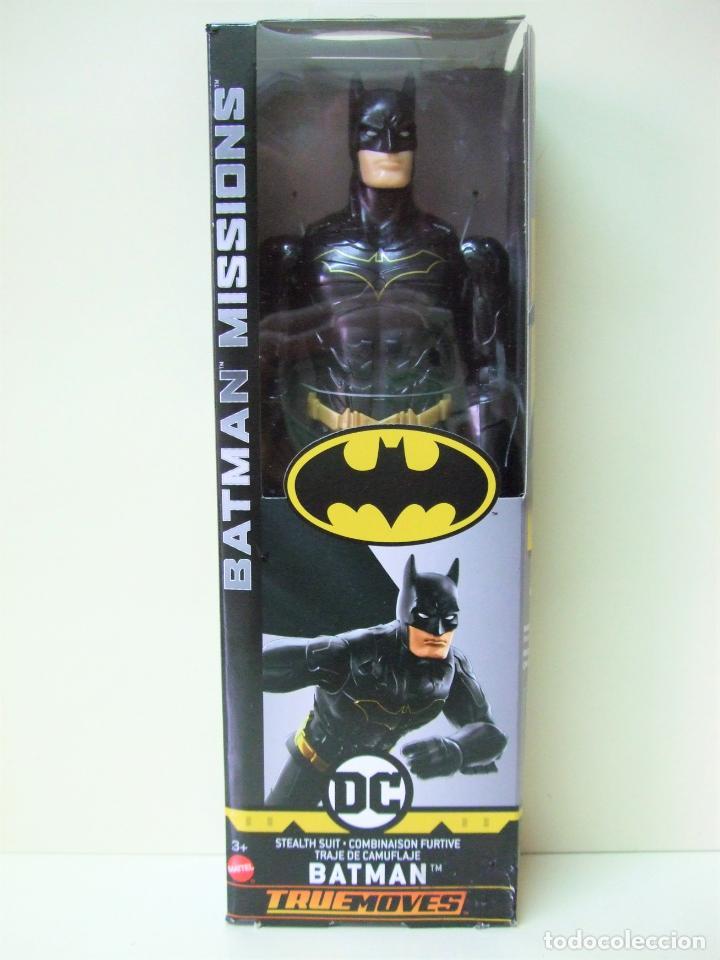 FIGURA BATMAN STEALTH SUIT 30 CM 12 PULGADAS - BATMAN MISSIONS MATTEL DC COMICS NEGRO BLACK MUÑECO (Juguetes - Figuras de Acción - DC)