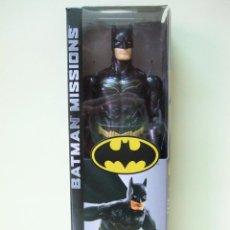 Figuras y Muñecos DC: FIGURA BATMAN STEALTH SUIT 30 CM 12 PULGADAS - BATMAN MISSIONS MATTEL DC COMICS NEGRO BLACK MUÑECO. Lote 218900507