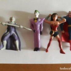 Figuras y Muñecos DC: LOTE 4 FIGURAS DC LA LIGA DE LA JUSTICIA (AQUAMAN, SUPERMAN, WONDER WOMAN ) Y JOKER DE BURGUER KING. Lote 222458622