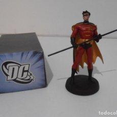 Figuras y Muñecos DC: FIGURA ROBIN, PLOMO PINTADO, DC COMICS, SUPERHEROES FIGURAS DE COLECCION, ALTAYA. Lote 224520423