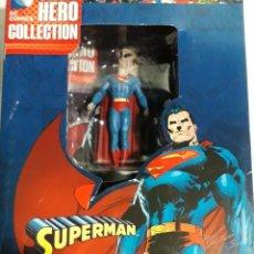 Figuras y Muñecos DC: MINIATURA EAGLEMOSS SUPERMAN SUPER HERO COLLECTION ESCALA 1:21 CAJA CON REVISTA. Lote 231575375