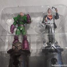 Figuras y Muñecos DC: MINIATURA EAGLEMOSS CLAK KENT & LEX LUTHOR SUPER HERO CHESS COLL ESCALA 1:21 CAJA CON REVISTA DC. Lote 231577485