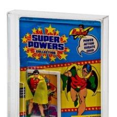 Figuras y Muñecos DC: 5 X CAJAS ACRÍLICAS PARA EXPOSICIÓN BLÍSTERS SUPER PODERES POWERS VINTAGE - BURBUJA INFERIOR 4.5CM. Lote 246288830