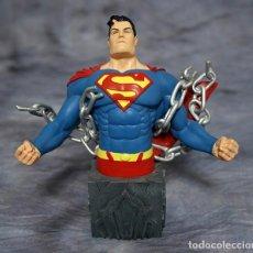 Figuras y Muñecos DC: SUPERMAN UNCHAINED BUSTO HEROES OF DC UNIVERSE DISEÑO CARLOS PACHECO CON AUTOGRAFO EDIC. LIMITADA. Lote 246745115