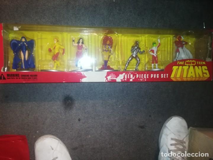 THE NEW TEEN TITANS 7-PIECE PVC SET 2000 DC DIRECT (Juguetes - Figuras de Acción - DC)