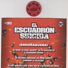 Figurines et Jouets DC: FICHA Y PUBLICIDAD JACKPOT EL ESCUADRÓN SUICIDA ORÍGENES SECRETOS DC COMICS. Lote 286471428