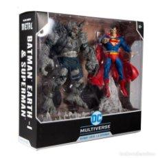 Figuras y Muñecos DC: PACK FIGURAS BATMAN EARTH-1 DEVASTATOR & SUPERMAN 18 CM - DC MULTIVERSE - MCFARLANE. Lote 289450783
