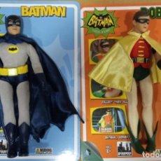 Figuras y Muñecos DC: BATMAN Y ROBIN SERIE CLASICA TV FIGURES TOY CO.18 CM. SIN CAJA PERO CON CARTON ORIGINAL. 2 FIGURAS. Lote 291527663