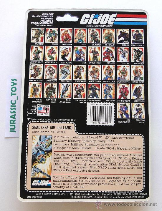 Figuras y Muñecos Gi Joe: 1983 VINTAGE (HASBRO) GI JOE: TORPEDO / NUEVO A ESTRENAR EN BLISTER - (MOC) - GIJOE - Foto 2 - 26722403