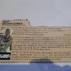 Figuras y Muñecos Gi Joe: GI JOE - FILECARD ORIGINAL USA ROADBLOCK V1. Lote 35544963