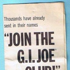 Figuras y Muñecos Gi Joe: JOIN THE GI JOE CLUB! FIVE MEMBERSHIP EXTRAS. FOLLETO 1964 SERIES. ORIGINAL DE LA EPOCA. Lote 35779853