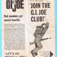 Figuras y Muñecos Gi Joe: JOIN THE GI JOE CLUB! SIX MEMBERSHIP EXTRAS. FOLLETO 1964 SERIES. ORIGINAL DE LA EPOCA. Lote 35779978