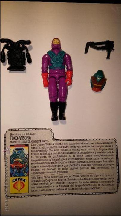 TOXO VIBORA GIJOE GI JOE CON FICHA (Juguetes - Figuras de Acción - GI Joe)