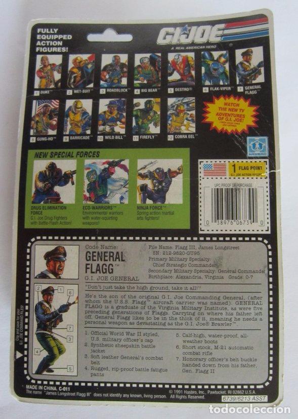 Figuras y Muñecos Gi Joe: FIGURA GI JOE, GIJOE, GENERAL FLAGG, AÑO 1991, EN BLISTER. CC - Foto 2 - 72730415