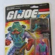 Figuras y Muñecos Gi Joe: FIGURA GI JOE, GIJOE, TOXO VIPER, DE HASBRO AÑO 1988, EN BLISTER. CC. Lote 72734899