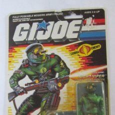 Figuras y Muñecos Gi Joe: FIGURA GI JOE, GIJOE, NIGHT VIPER, DE HASBRO AÑO 1989, EN BLISTER. CC. Lote 72734983