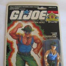 Figuras y Muñecos Gi Joe: FIGURA GI JOE SARGENTO SLAUGHTER, HASBRO, AÑO 1989, EN BLISTER. CC. Lote 76055511