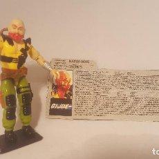 Figuras y Muñecos Gi Joe: FIGURA GI JOE - TORO - 1987 - 100% COMPLETA CON FICHA. Lote 78470089