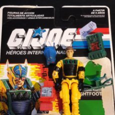 Figuras y Muñecos Gi Joe: GIJOE LIGHTFOOT HEROES INTERNACIONALES CON EL CARTON. Lote 79562093