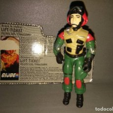Figuras y Muñecos Gi Joe: 918- FIGURA + CARD/TARJETA IDENTIFICATIVA -GI JOE LIFT TICKET - HASBRO 1986 - 8. Lote 100917467