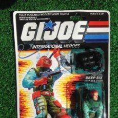 Figuras y Muñecos Gi Joe: LOTE MASTERS BLISTER GIJOE GI JOE DEEP SIX PRECINTADO IMPECABLE AÑOS 80 ORIGINAL COBRA HEROES. Lote 257908940