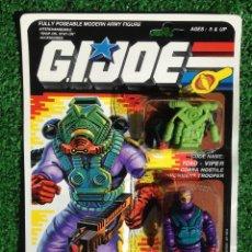 Figuras y Muñecos Gi Joe: LOTE MASTERS BLISTER GIJOE GI JOE TOXO VIPER PRECINTADO IMPECABLE AÑOS 80 ORIGINAL COBRA HEROES. Lote 257908695