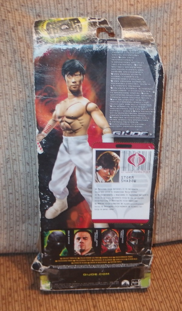 Figuras y Muñecos Gi Joe: G.I.JOE THE RISE OF COBRA,STORM SHADOW,NINJA MERCENARY,HASBRO,2009,CAJA ORIGINAL,A ESTRENAR - Foto 4 - 107645954