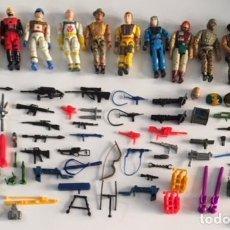 Figuras y Muñecos Gi Joe: SUPER LOTE MUÑECO FIGURA ARMAS ACCESORIOS TIPO GI JOE GIJOE - CORPS LANARD DE LOS AÑOS 80. Lote 108712855