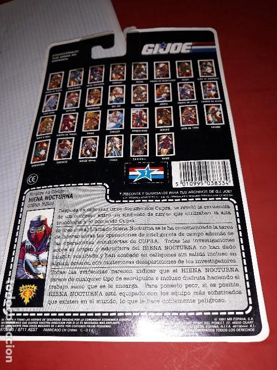 Figuras y Muñecos Gi Joe: FIGURA GIJOE HIENA NOCTURNA NUEVA gi joe a estrenar Año 1991 en su blister intacto - Foto 3 - 114294731