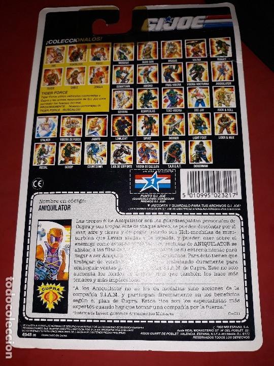 Figuras y Muñecos Gi Joe: FIGURA GI JOE ANIQUILATOR AÑO 1990 NUEVA EN SU BLISTER INTACTO A ESTRENAR GIJOE - Foto 8 - 52668132